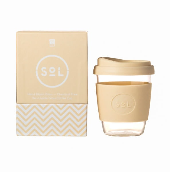 SoL Cup Glaskaffeebecher 12oz - Coastal Cream