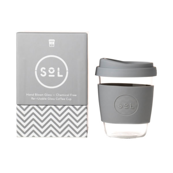 SoL Cup Glaskaffeebecher 12oz - Cool Grey