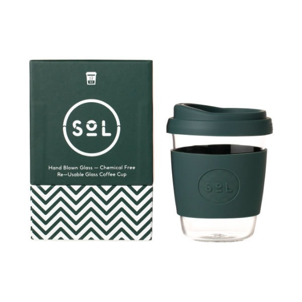 SoL Cup Glaskaffeebecher 12oz - Deep Sea Green
