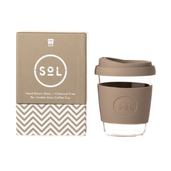 SoL Cup Glaskaffeebecher 12oz - Seaside Slate