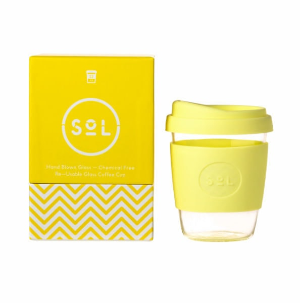 SoL Cup Glaskaffeebecher 12oz - Yummy Yellow