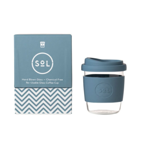 SoL Cup Glaskaffeebecher 8oz - Stone Blue