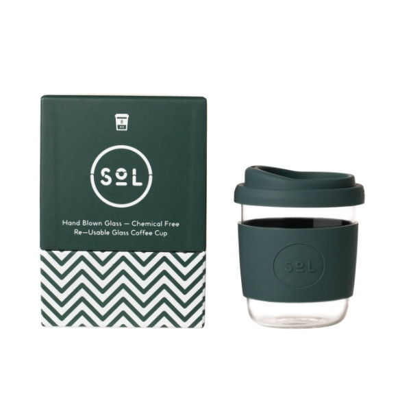 SoL Cup Glaskaffeebecher 8oz - Deep Sea Green
