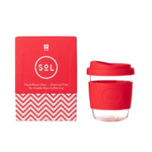 SoL Cup Glaskaffeebecher 8oz - Rocket Red