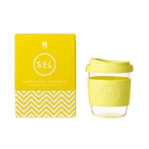 SoL Cup Glaskaffeebecher 8oz - Yummy Yellow