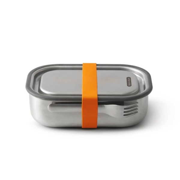 black+blum Lunchbox - Auslaufsichere Edelstahl Box - Orange