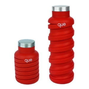 Faltbare Trinkflasche que Bottle in Rot