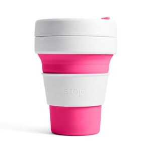 stojo Pocket Cup - der faltbare Coffee to go Becher (12oz) pink